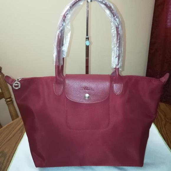 Longchamp Handbags - Longchamp Le Pliage NEO LH Wine Red NEW 74e1644b38bc6